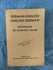 German English Dictionary 1952 Us Armed Forces
