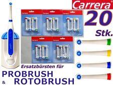 20 Stk. Ersatzbürsten Carrera Probrush Rotobrush 9312071, 9312072, 9312021, 2685