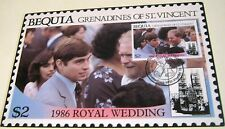 Bequia Grenadines of St Vincent 1986 Royal Wedding FDC $2 - unposted