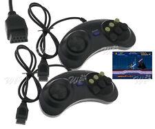 2er 6-Tasten Controller für Sega Mega Drive & Genesis Joypad Gamepad Kit