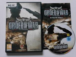 Order Of War - 2009 PC DVD-ROM game + manual