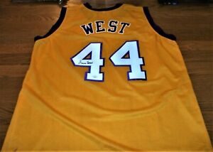 JERRY WEST SIGNED LOS ANGELES LAKERS BASKETBALL JERSEY - JSA