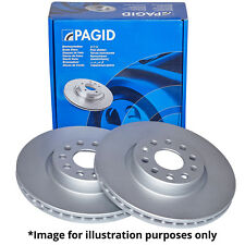 PAGID FRONT AXLE EXTERNALLY VENTED BRAKE DISCS 50314 Ø 256 mm BRAKE KIT BRAKES