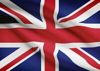 A4| Union Jack Flag Poster Size A4 UK Great Britain British Poster Gift #15601