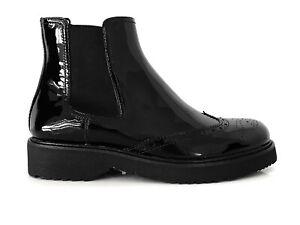 PRADA Women's Shoes Ankle Boots Black Shoes Chelsea Eu 41 New