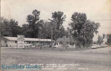 Postcard RPPC Ott's Resort Motel + Cottages Houghton Lake MI