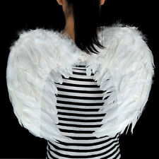 Adults Kids Feather Angel Wings Fariy Fancy Christmas Halloween Cosplay Costume White 80-60cm