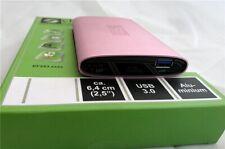 Chiligreen 6,4cm (2,5 Zoll) Festplattengehäuse extern HDD SATA USB 3.0 Alu, Pink