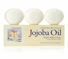 3 x Crabtree & Evelyn Jojoba Oil Triple Milled Soap Bar With Shea Butter 3.5 oz