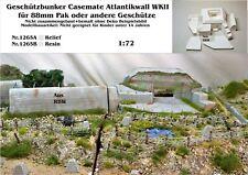Neu für Diorama Nr.1265A Geschützbunker Casemate Atlantikwall WKII 1:72