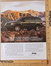 Jeep Grand Cherokee Magazine Print Ad 1996