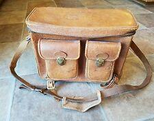 Vintage Camera Case Shoulder Pack by Kent Pigskin Leather Made in USA