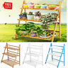 3 Tier Outdoor Bamboo Flower Pot Shelf Stand Folding Display Rack Garden Yard US
