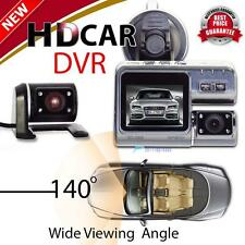 Dual HD 1080P H.264 Dash Car DVR Video Camera Recorder Night Vision Crash Cam TL