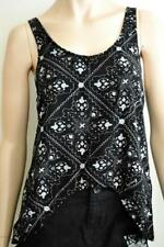 Regular Size Rayon Floral Sleeveless Tops & Blouses for Women