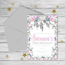 Boho Floral Invitation {Digital File}
