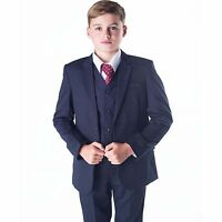 Boys Suits Boys Navy Suit Boys Wedding Suit Page Boy Party Prom 5 Piece Suit