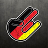 Shocker German Flag Sticker Vinyl Decal Germany Dope Car Sticker Fits BMW & Benz