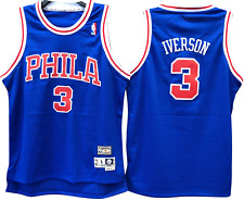 Allen Iverson Philadelphia 76ers Hardwood Throwback Youth Nba Swingman Jersey