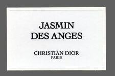 Carte à parfumer  - perfume card  - Jasmin des Anges de Christian Dior