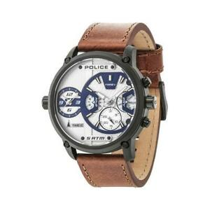 WATCH POLICE STAINLESS STEEL WHITE BROWN MEN R1451278002