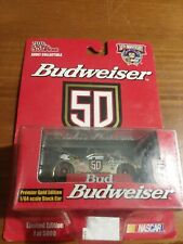 #50 RICKY CRAVEN BUDWEISER CAR PREMIERE GOLD EDITION 1998 RACING CHAMPION 1/64