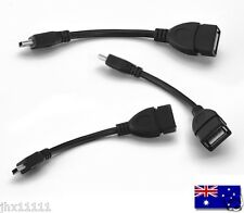 New A Female to 5-pin B Male Mini USB Cable OTG Host Extension Cord USB Adapter