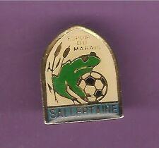 Pin's pin GRENOUILLE FROG EMBLEME FOOTBALL ESPOIR DU MARAIS SALLERTAINE