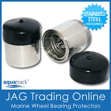 STAINLESS STEEL Marine Trailer Wheel Bearing Buddy Protectors - Boat/Caravan/RV