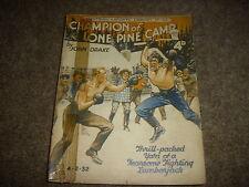 Football & Sports Library Mag.  4/2/1938 #325 Champion Lone Pine Camp John DRAKE