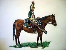 C1 DESSIN Couleurs DRAGON A CHEVAL - JULLIAN Napoleon GRAND FORMAT 50 X 65 cm