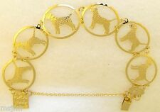 Border Terrier Jewelry Gold Bracelet by Touchstone