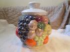 Vintage Rare Fruit Cookie Jar 11'' Tall