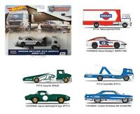 2019 Hot Wheels Car Culture Team Transport Case F Set of 4, 1/64 Cars FLF56-956F