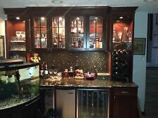 mahogany wet bar with wine coolers