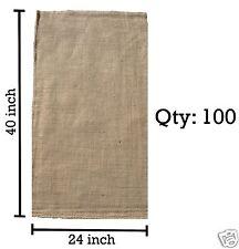 (100) 24 x 40 Burlap Bags Wholesale Bulk - Sacks Potato Race Sandbags Home Depot