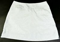 Adidas Women's 6 Clima Cool Polyester/Rayon Blend Striped Tennis Skirt w/ Shorts