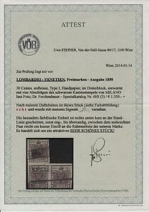 L-V 1850 3*30C, DREIERBLOCK! ERDBRAUN! MILANO, Dr.Ferch:1350,-€! STEINER ATTEST