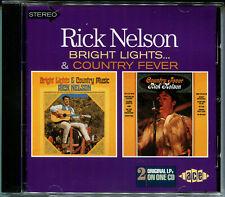 "RICKY NELSON ""Bright lights + Country fever"" 2LP auf CD, Neu!"