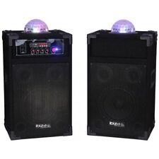 Ibiza Sound System 700 W Haut-parleurs, Amp & Lumière DEL Karaoke Dj Disco DP235