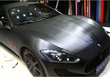 2M x 1.52M Charcoal Black Brushed Vinyl Car Wrap Film Air Release