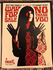 Shepard Fairey Signed 2007  War For Sale **66/300**