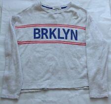 Beige Brooklyn Sweatshirt Jumper -Forever 21 Size L (UK  8-10)