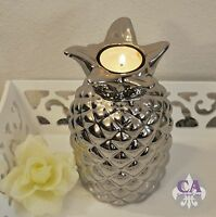 deko objekt apfel keramik silber ebay. Black Bedroom Furniture Sets. Home Design Ideas