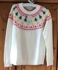 Boden Festive Fair Isle Ivory jumper Size Medium / UK 14 NEW