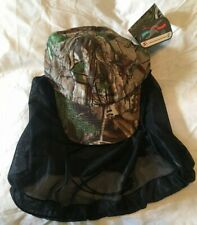 REALTREE QUICK WICK CAMO MENS HUNTING HAT CAP WITH FACE COVER NEW WITH TAGS