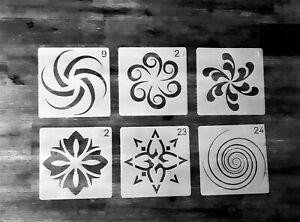 6er Set Schablonen Mandala Nr. 40 Shabby Chic Jugendstil Mandala Malen Möbel