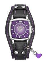 30 m (3 ATM) Armbanduhren aus echtem Leder mit Rechteck