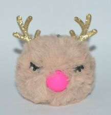BATH BODY WORKS REINDEER POCKET  BAC HOLDER SLEEVE SANITIZER CASE CLIP NO LIGHT