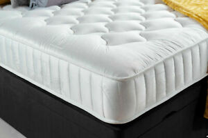 "Memory Foam Mattress Quilted 8"" Deep Mattress Delivered Rolled NEXT DAY DELIVERY"